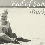 End of Summer Bucketlist