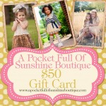 A Pocket Full of Sunshine Boutique **GIVEAWAY** CLOSED