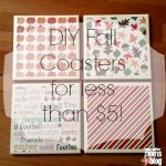 DIY Fall Coasters for less than $5!