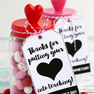 Candy Heart Jars
