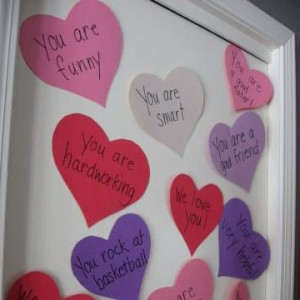 Framed Valentine Hearts