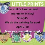 Little Prints at As You Wish Pottery April 2-10th