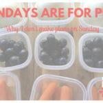 Why I don't make plans on Sundays