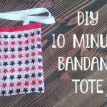 DIY: 10 Minute Bandana Tote