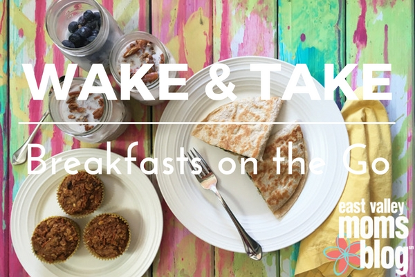 Overnight oats, healthy muffins and egg quesadillas are all great make-ahead options for breakfast on the run.