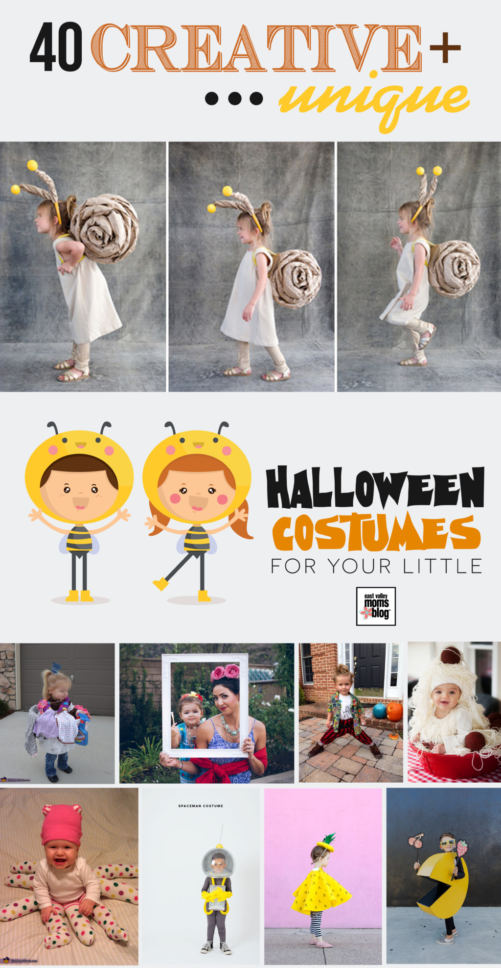 40 Creative and Unique Halloween Costumes for Littles via East Valley Moms Blog