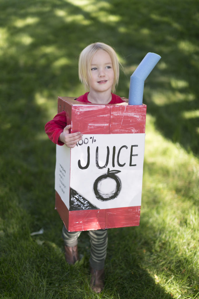 Juice box costume
