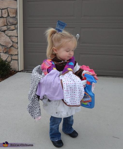 Basket of Laundry Costume