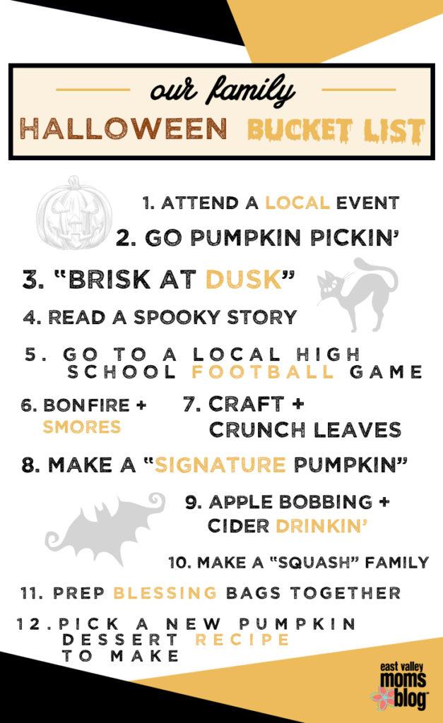 Halloween Bucket List East Valley Edition