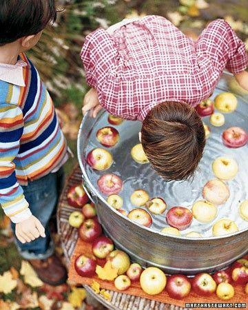 Bobbing for apples via Martha Stewart