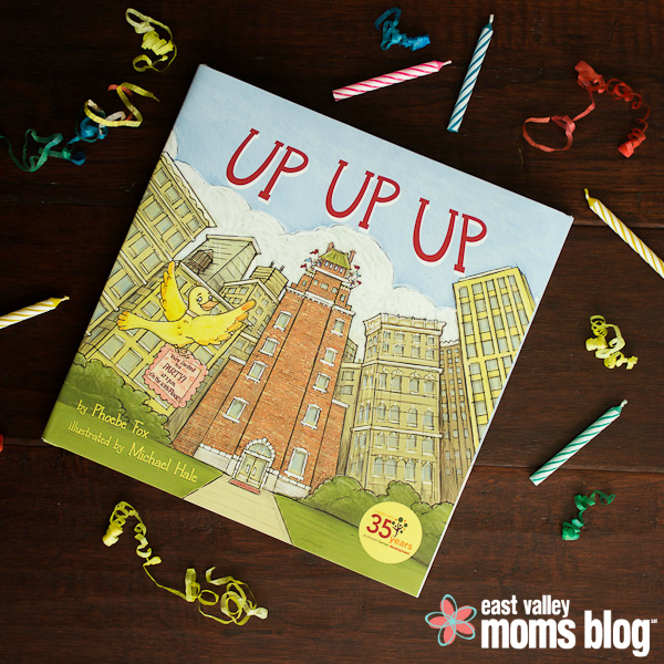 Up Up Up is a simple and fun story, packed full of charming illustrations depicting each animal's journey up to the 10th floor to attend a birthday party. A great read for any toddler or child!