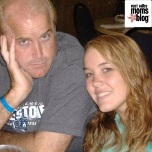 Dad and high school daughter