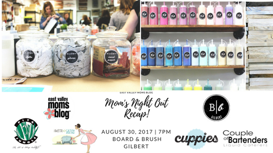 East Valley Moms Blog Mom's Night Out at Board & Brush Gilbert