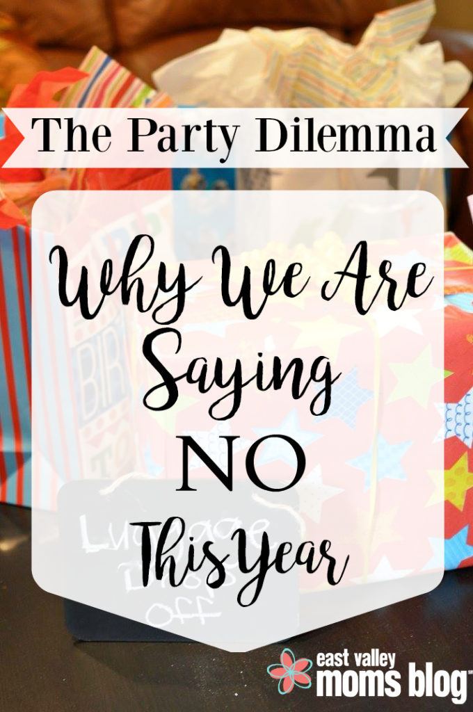 The Party Dilemma: Why We Are Saying NO This Year