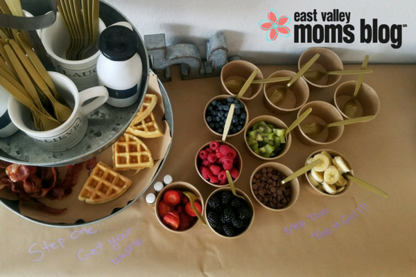 Viva la Brunch! | A Waffle and MOMosa Bar | East Valley Moms Blog