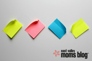 Back to school lunch post it notes | East Valley Moms Blog