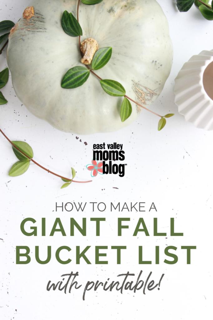 How to make a giant fall bucket list + Printable